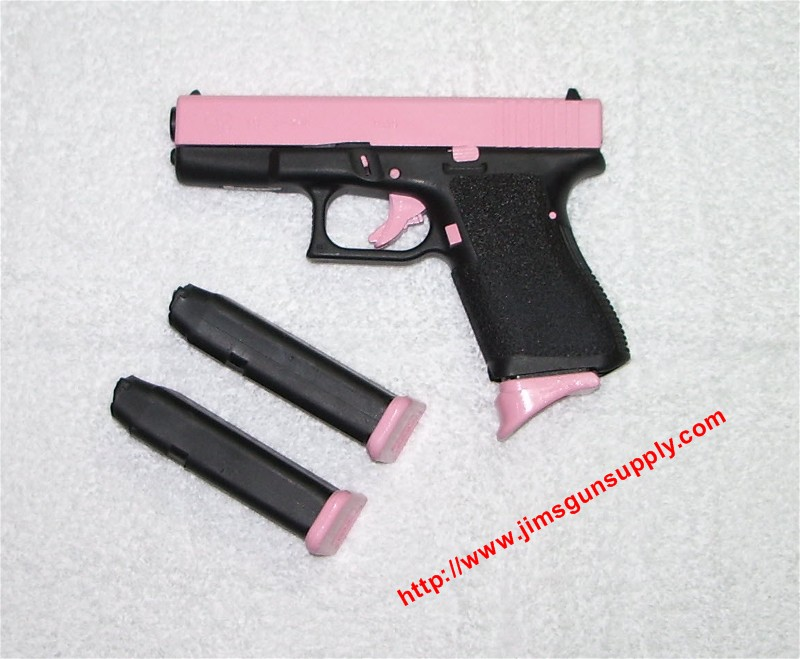 pictures of 9mm guns. Arms manufacturers are creating bizarre-looking pink guns, to attract women
